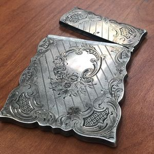 Antique Hand Crafted Sterling Silver Money Holder